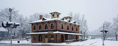 Galena Depot Snowfall Print by Steve Gadomski