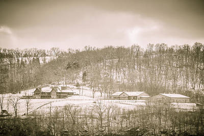 Photograph - Galena Farm On Snowy Morning by Joni Eskridge
