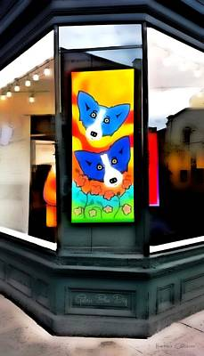Painting - Galerie Blue Dog by Barbara Chichester