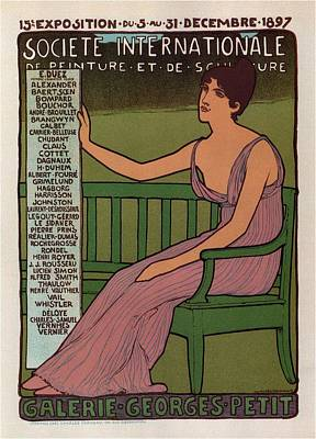 Royalty-Free and Rights-Managed Images - Galerie Georges Petit - Societe Internationale de Peinture et Sculpture - Vintage Exposition Poster by Studio Grafiikka