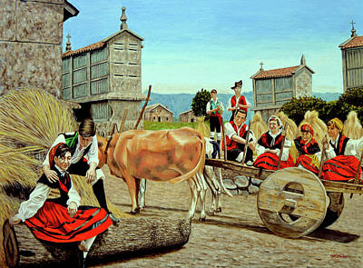 Painting - Galicia Medieval by Tony Banos