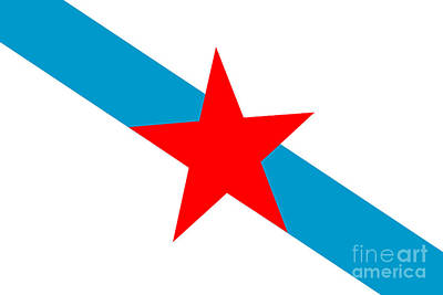 Galician Nationalism Flag Art Print by Frederick Holiday