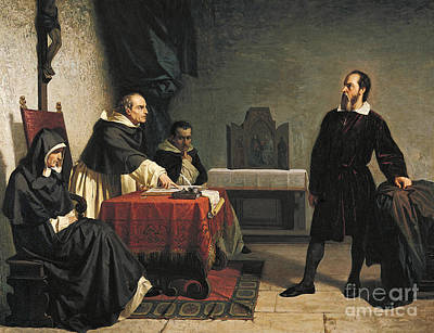 Inquisition Painting - Galileo Facing Inquisition by Reproduction