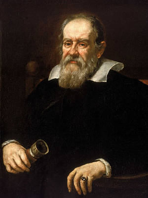 Physicist Painting - Galileo Galilei - Astronomer And Mathematician by War Is Hell Store