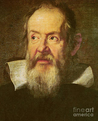 Physicist Painting - Galileo Galilei by Justus Sustermans