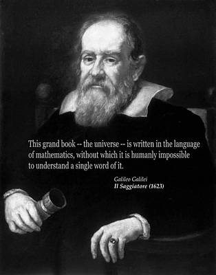 Photograph - Galileo On Mathematics Bw by C H Apperson