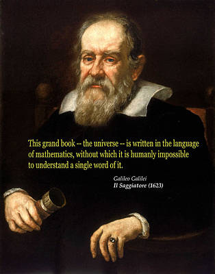 Photograph - Galileo On Mathematics by C H Apperson