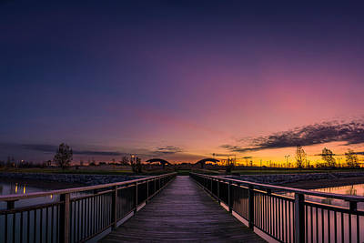 Photograph - Gallagher Pier Dawn by Chris Bordeleau