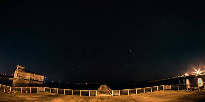 Photograph - Gallagher Pier Nightscape by Chris Bordeleau