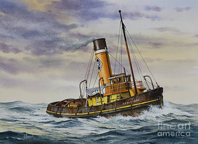 Painting - Gallant Steam Tugboat Graygarth by James Williamson
