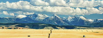 Snow Covered Fields Photograph - Gallatin Range by Todd Klassy