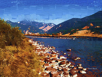 Gallatin River Dreams Art Print by Diane E Berry
