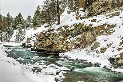 Gallatin River Photograph - Gallatin River Winter by Daryl L Hunter