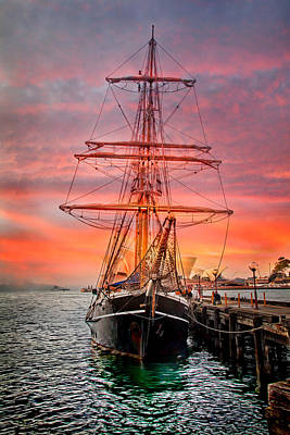 Sunset Sailing Photograph - Galleano's Quest by Az Jackson