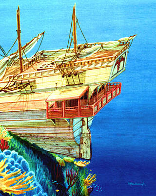 Painting - Galleon On The Reef 2 Filtered by Duane McCullough
