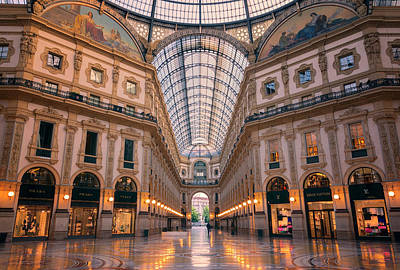 Photograph - Galleria Milan Italy II by Joan Carroll