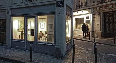 Photograph - Gallery District, Paris 2016 by Chris Honeyman