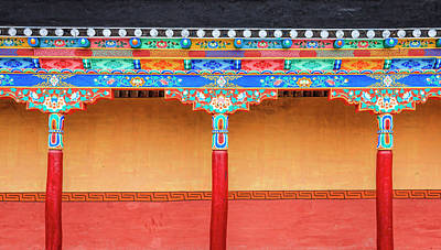 Photograph - Gallery In A Buddhist Monastery by Alexey Stiop