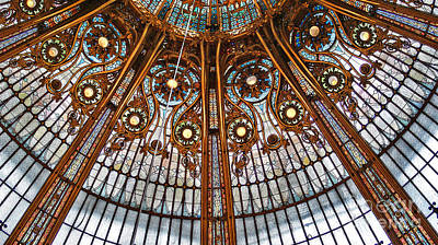 Gallery Lafayette Ceiling Art Print by Louise Fahy