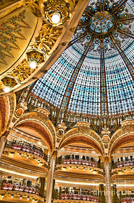 Photograph - Gallery Lafayette Ceiling II by Louise Fahy