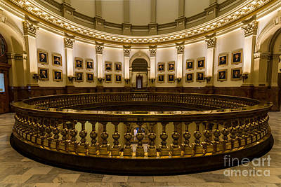 Gallery Of Presidents - Colorado State Capitol Art Print by Gary Whitton