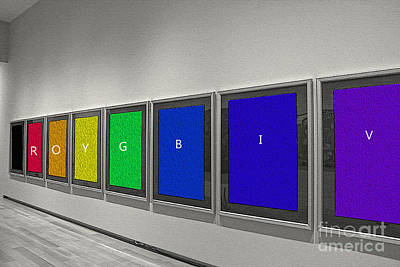 Photograph - Gallery Of Rainbow Colours by Nina Silver