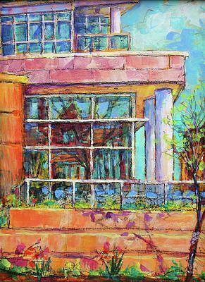 Painting - Gallery Reflection by Les Leffingwell
