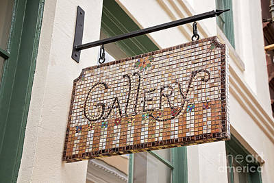 Photograph - Gallery Sign In Mosaic by Sharon McConnell