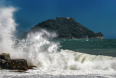 Gallinara Island Seastorm - Mareggiata All'isola Gallinara Art Print