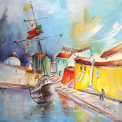 Gallion Painting - Gallion In Vila Do Conde by Miki De Goodaboom