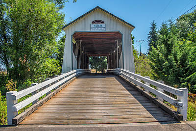 Photograph - Gallon House Covered Bridge by Matthew Irvin