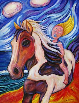 Painting - Gallop Along The Beach by Dianne  Connolly