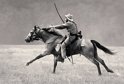 Photograph - Gallop Charge by Art Cole