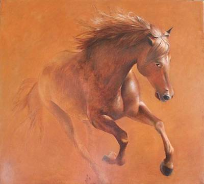Nervous Painting - Gallop In The Desert by Vali Irina Ciobanu