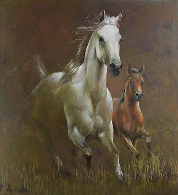 Painting - Gallop In The Eyelash Of The Morning by Vali Irina Ciobanu