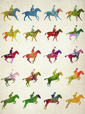 Galloping Gait Terrestrial Locomotion  Art Print by Aged Pixel
