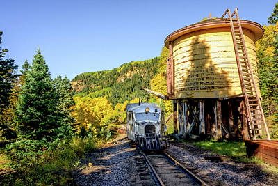 Photograph - Galloping Goose 5 At Locomotive Water Tank by Debra Martz