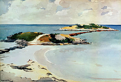 Winslow Homer Drawing - Gallows Island by Winslow Homer