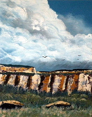 Painting - Gallup Bluffs 1 Of 6 by Carl Owen