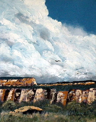 Painting - Gallup Bluffs 2 Of 6 by Carl Owen