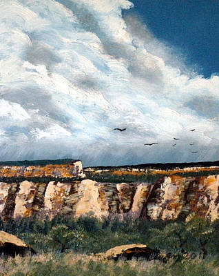 Painting - Gallup Bluffs 3 Of 6 by Carl Owen
