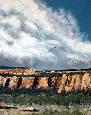 Painting - Gallup Bluffs 4 Of 6 by Carl Owen