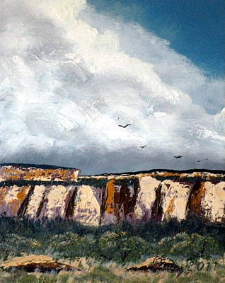 Painting - Gallup Bluffs 5 Of 6 by Carl Owen