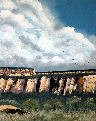 Painting - Gallup Bluffs 6 Of 6 by Carl Owen