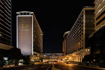 Art Print featuring the photograph Galt House Hotel And Suites At Night by Randy Scherkenbach