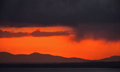 Photograph - Galtee Mountains Silhouette by James Truett