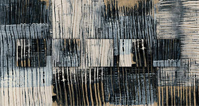 Urban Industrial Mixed Media - Galvanized Paint Number 1 Horizontal by Carol Leigh