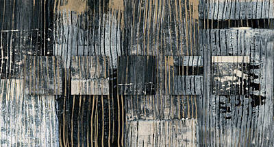 Mixed-media Photograph - Galvanized Paint Number 2 Horizontal by Carol Leigh