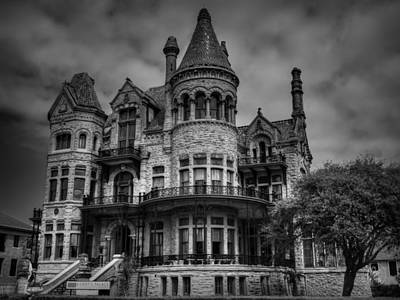 Galveston - Bishop's Palace 003 Bw Art Print