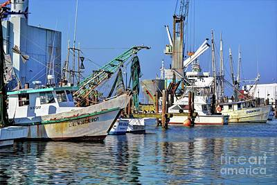 Photograph - Galveston Fishing Boats by Savannah Gibbs